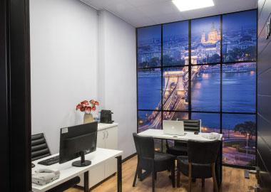 בודפשט - חללי עבודה ל 4 עובדים להשכרה - משרדי OFFIX