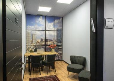 חלל עבודה ל4 אנשים תל אביב - משרדי אופיקס ראשון לציון